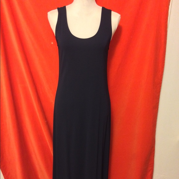 DKNY Vintage 90s Sleeveless Midi Dress Blue MP